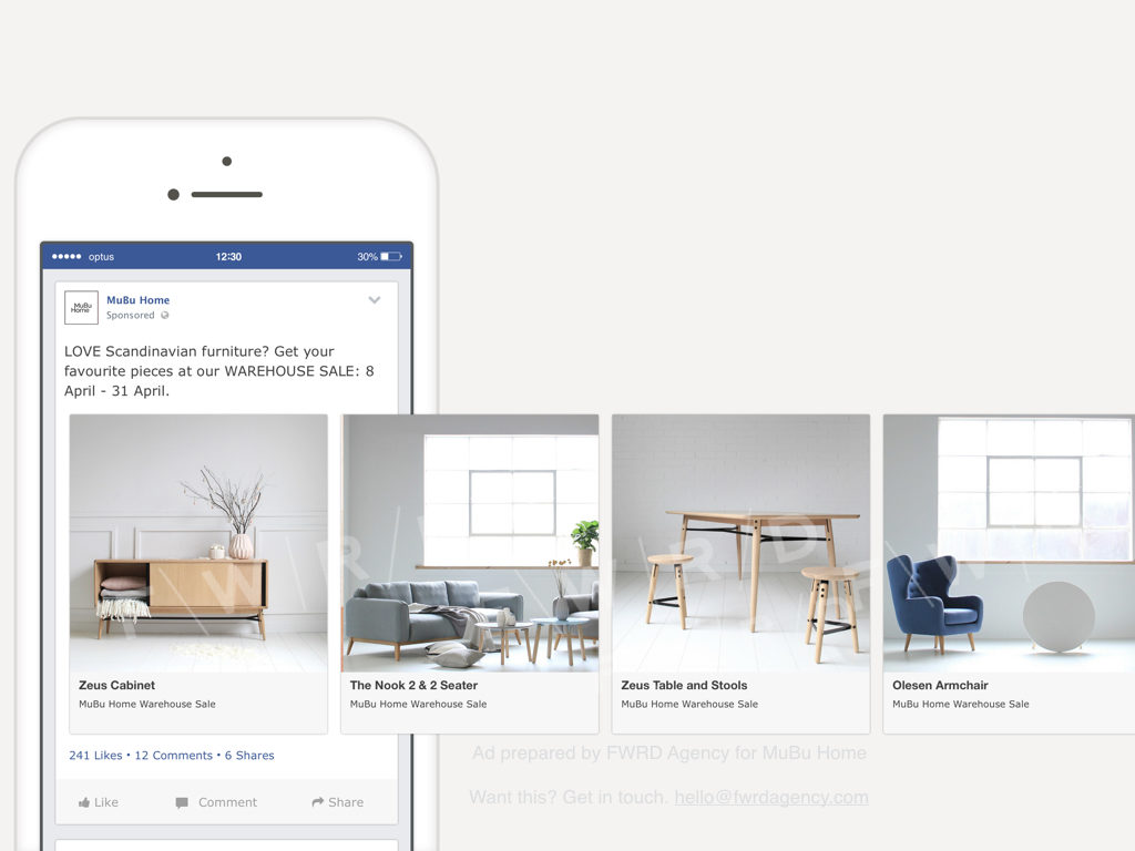 Drive sales using Facebook Product Carousel Ads Prepared by FWRD Agency
